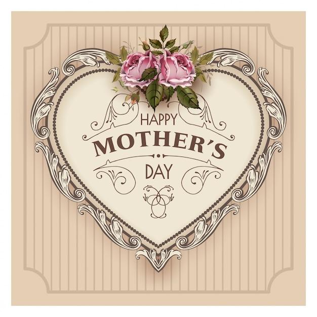 Ejemplo feliz del vector del día de madres Vector Premium