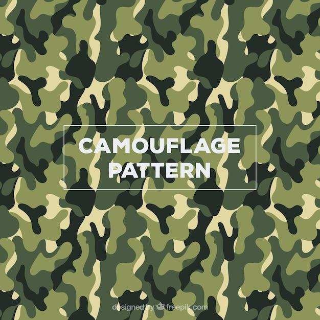 Ejército camuflaje vector patrón vector gratuito