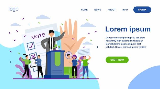 Elección y campaña política vector gratuito