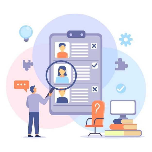 Elección del concepto de trabajador Vector Premium