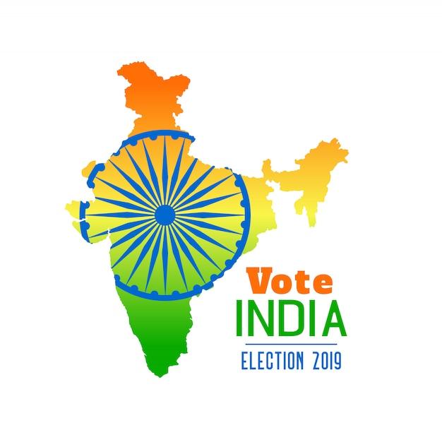 Elección de diseño de banner india 2019 vector gratuito
