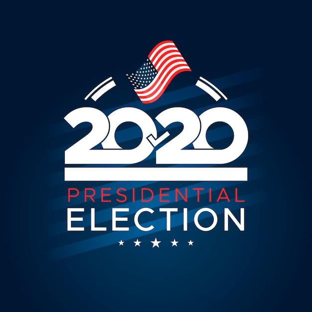 Elección presidencial estadounidense 2020 plana vector gratuito