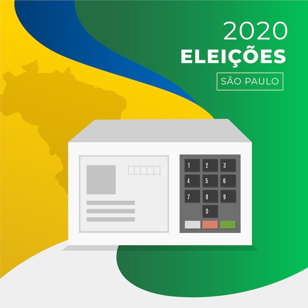 Elecciones 2020 brasil ilustración Vector Premium
