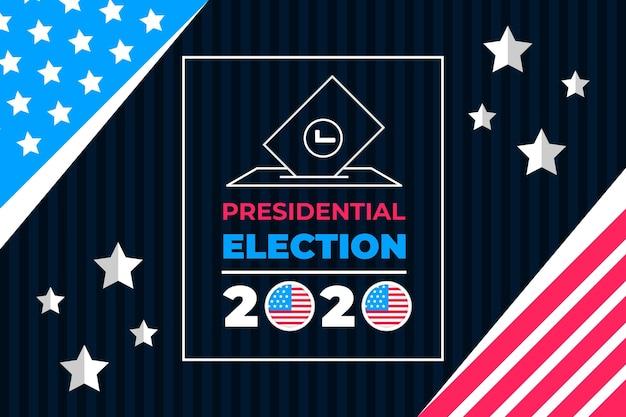 Elecciones presidenciales creativas de 2020 en ee. uu. vector gratuito