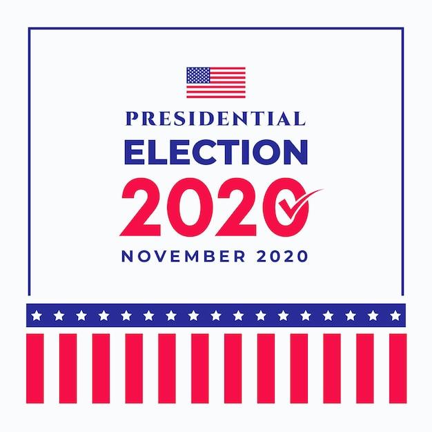 Elecciones presidenciales estadounidenses de 2020 vector gratuito