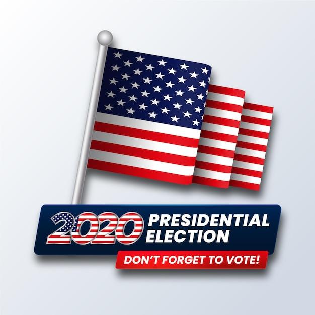 Elecciones presidenciales estadounidenses de 2020 Vector Premium