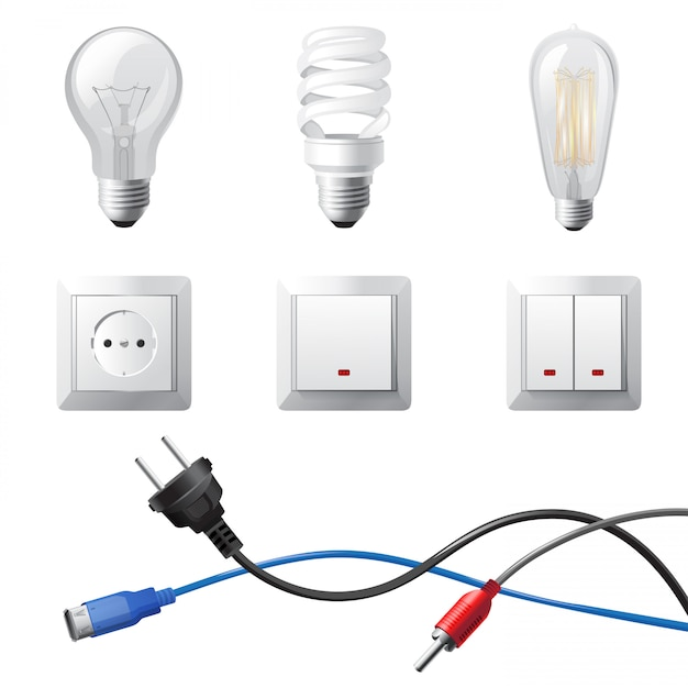 Electricidad en el hogar Vector Premium