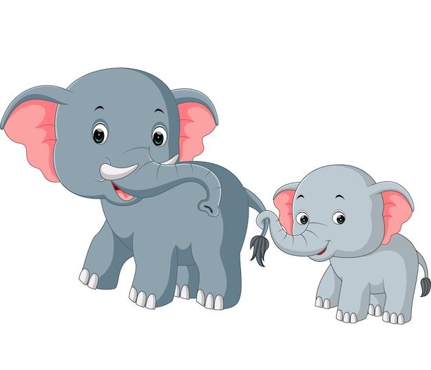 Elefante y beb elefante de dibujos animados descargar - Fotos de elefantes bebes ...
