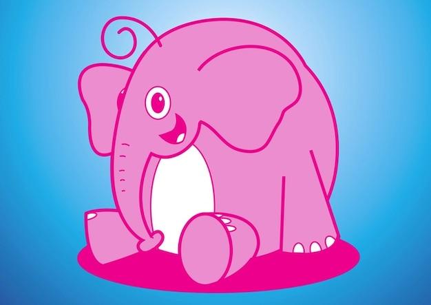 Elefante de dibujos animados vectores descargar