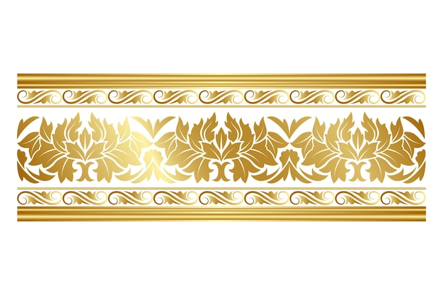 Elegante borde dorado ornamental vector gratuito