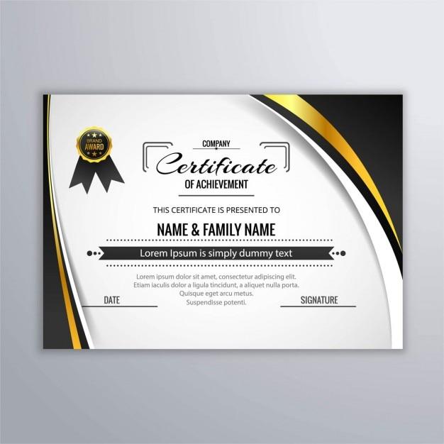 Elegante Certificado De Reconocimiento Descargar