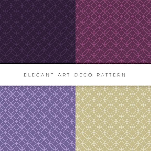 Elegante conjunto art deco de patrones editables vector gratuito