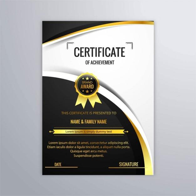 Elegante Diploma De Lujo Descargar Vectores Gratis