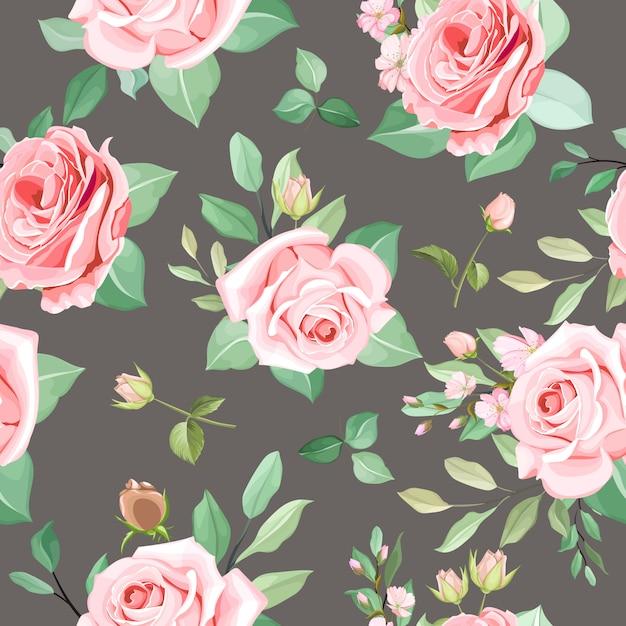 Elegante diseño floral transparente vector gratuito