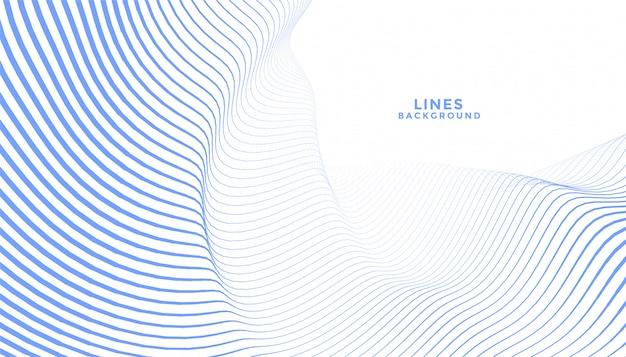 Elegante diseño de fondo abstracto de líneas onduladas azules vector gratuito