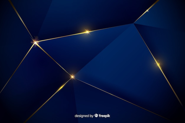 Elegante diseño de fondo poligonal oscuro vector gratuito