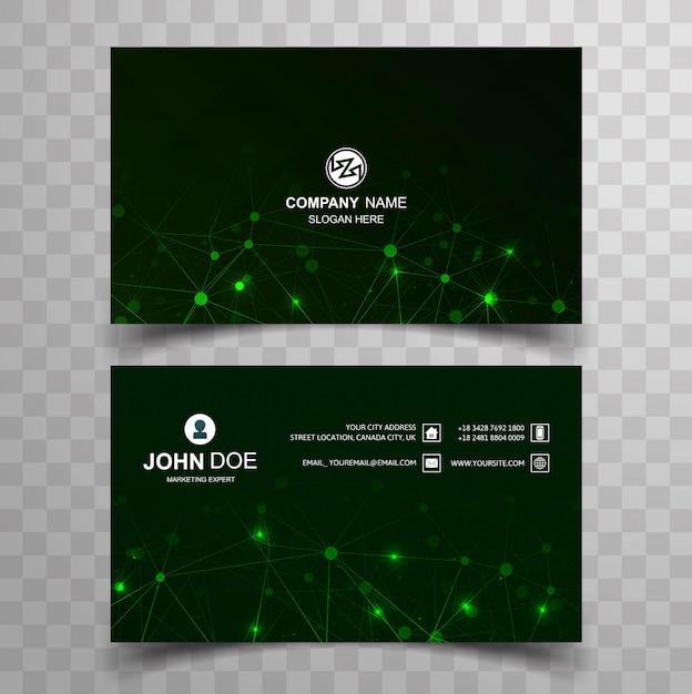 Elegante diseño de plantilla de tarjeta de visita creativa Vector Premium