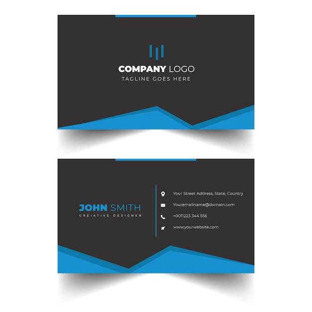 Elegante diseño de tarjeta de visita profesional Vector Premium