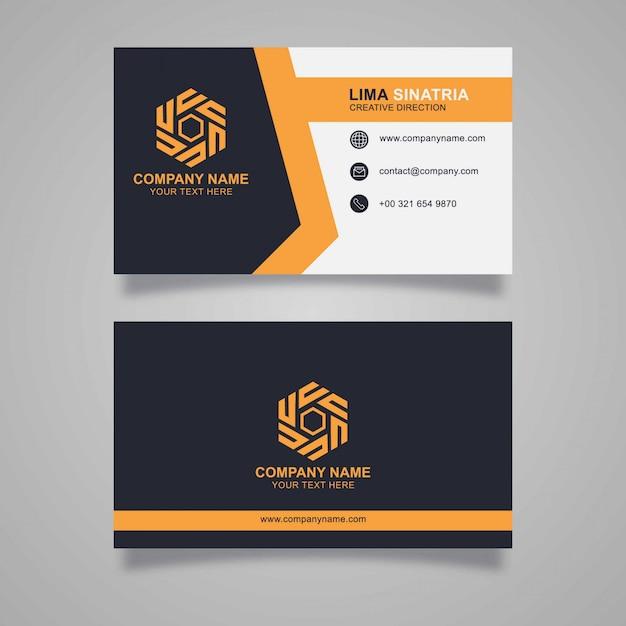 Elegante diseño de tarjeta de visita Vector Premium