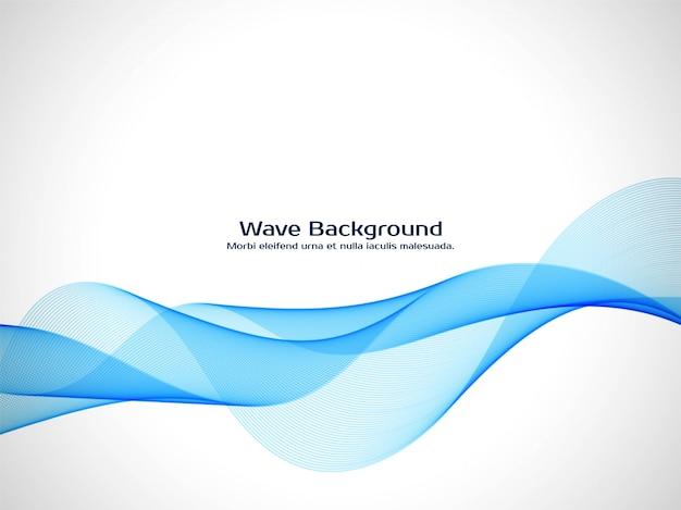 Elegante fondo azul de la onda vector gratuito