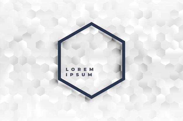 Elegante fondo de formas hexagonales blancas de fondo vector gratuito