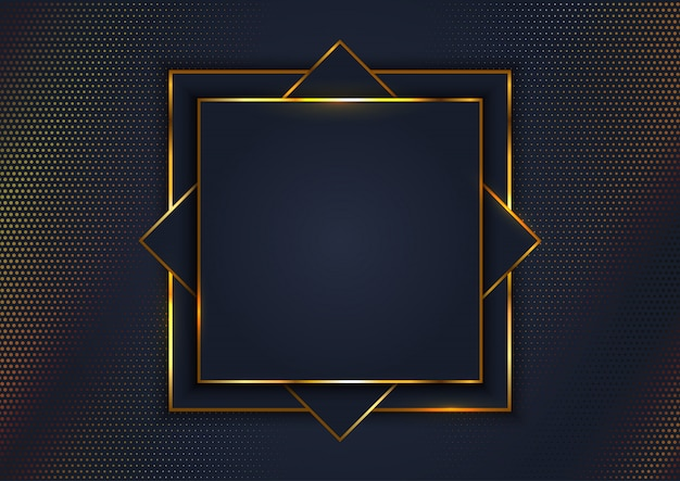 Elegante fondo con marco dorado. vector gratuito