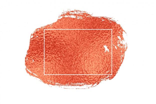 Elegante fondo de marco de textura de lámina de oro o cobre rosa vector gratuito