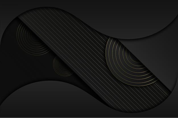 Elegante fondo oscuro con concepto de detalles dorados vector gratuito