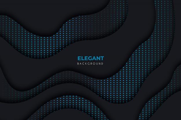 Elegante fondo oscuro con detalles azules. vector gratuito