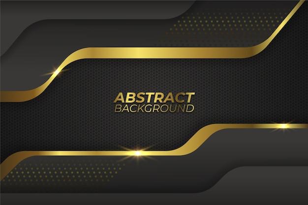 Elegante fondo oscuro con detalles dorados Vector Premium