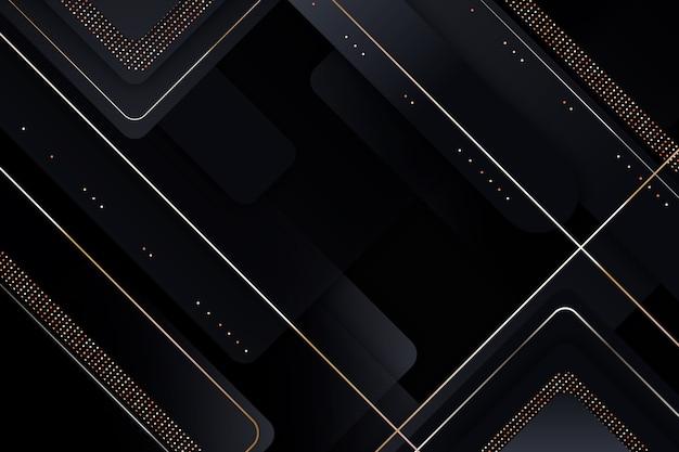 Elegante fondo oscuro con detalles dorados vector gratuito