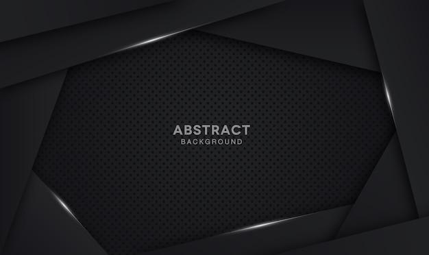 Elegante fondo oscuro superposición de capa Vector Premium