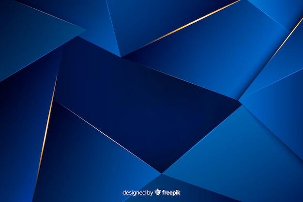 Elegante fondo poligonal azul oscuro vector gratuito