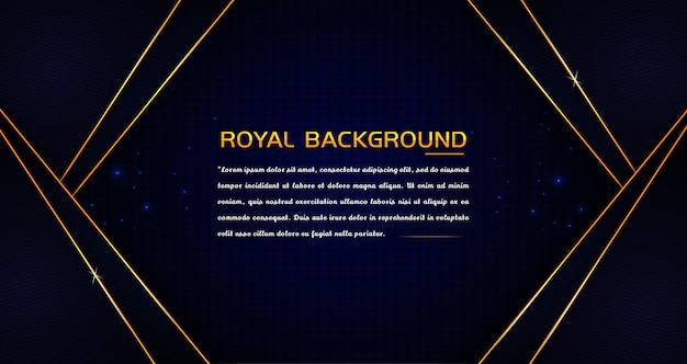 Elegante fondo real con marco dorado Vector Premium