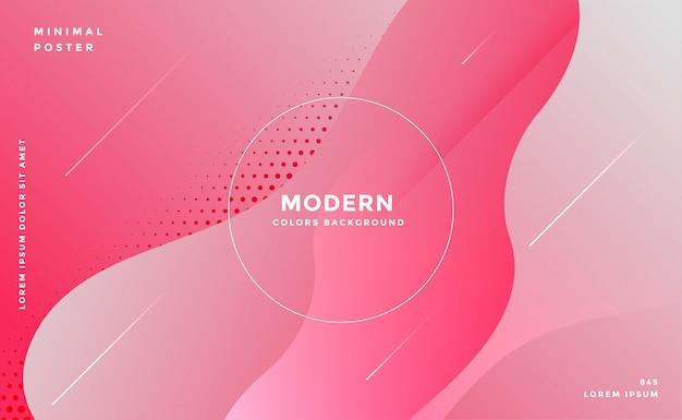 Elegante fondo rosa abstracto estilo fluido vector gratuito