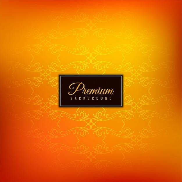 Elegante hermoso fondo naranja premium vector gratuito
