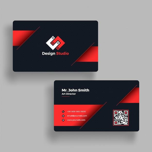 elegante horizontal tarjeta de presentación con presentación de