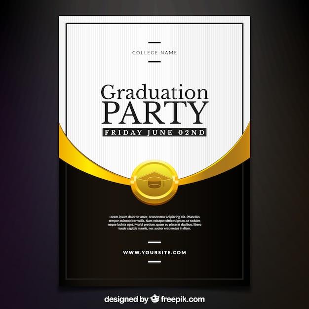Elegante Invitacion De Fiesta De Graduacion Descargar Vectores