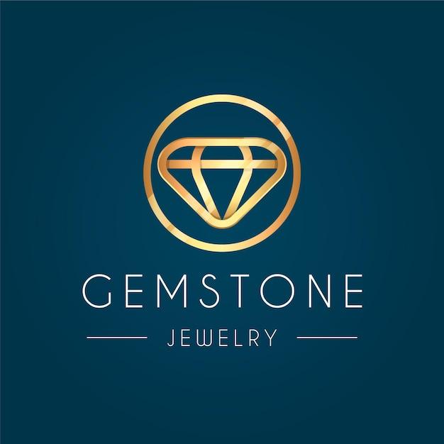 Elegante logo de diamantes vector gratuito