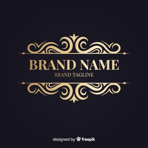 Elegante logotipo ornamental retro vector gratuito
