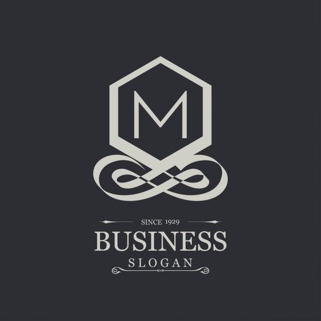 Elegante logotipo plateado con la letra m descargar for Logos con letras