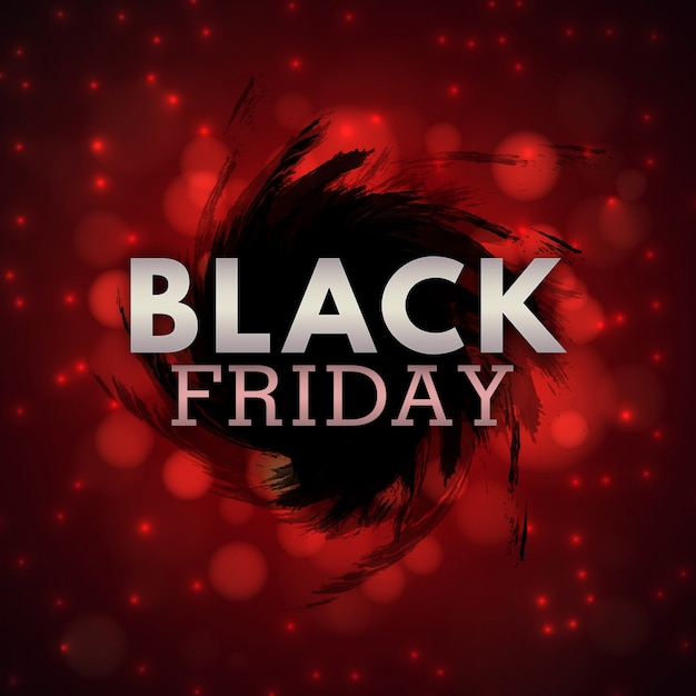 Elegante negro y rojo agua color negro viernes fondo vector gratuito