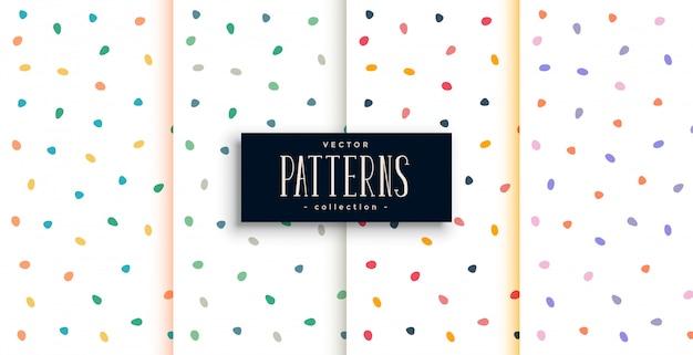 Elegante patrón blanco con curvas coloridas formas redondas vector gratuito