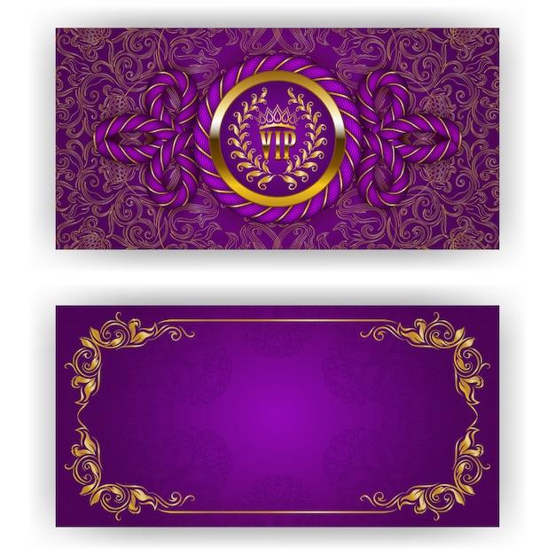 Elegante plantilla para invitación de lujo vip. Vector Premium