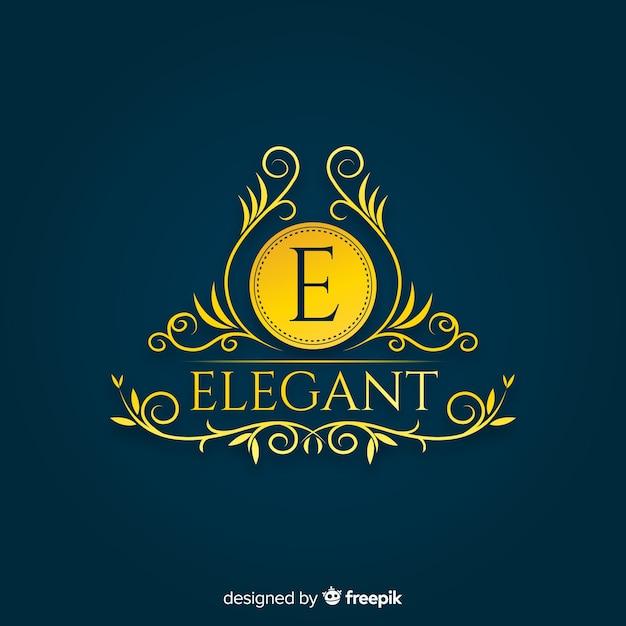 Elegante plantilla de logotipo ornamental vector gratuito