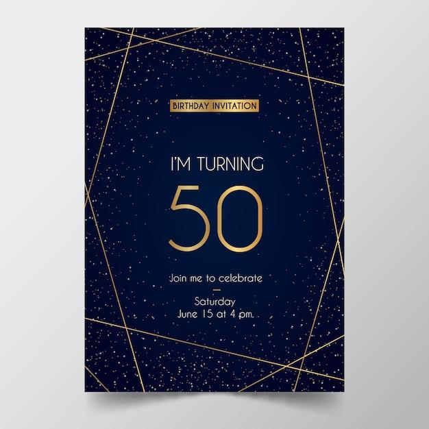 Elegante plantilla de tarjeta de cumpleaños vector gratuito