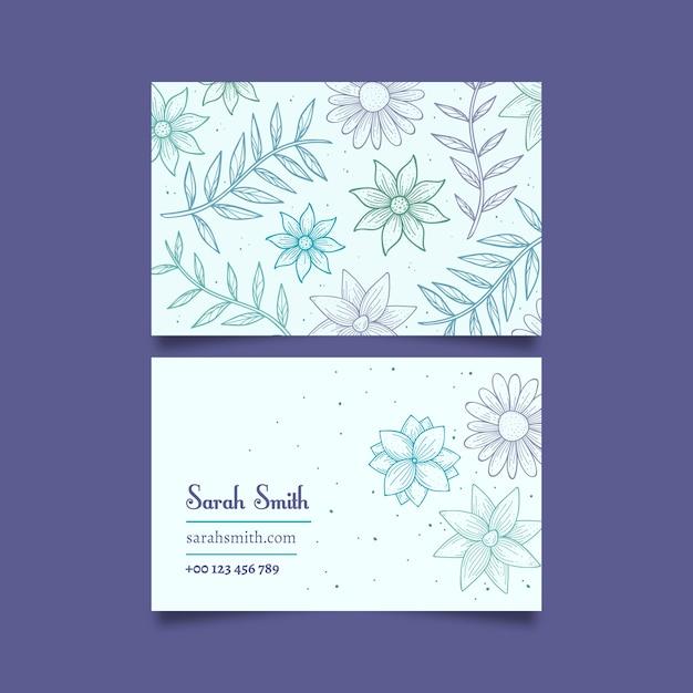 Elegante plantilla de tarjeta de visita vector gratuito