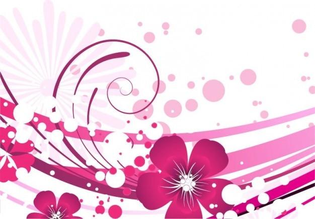 Elegante rosa fondo abstracto floral | Descargar Vectores gratis