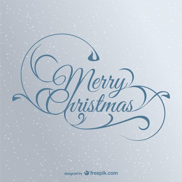 Feliz Navidad Rotulos.Elegante Rotulo De Feliz Navidad Descargar Vectores Gratis