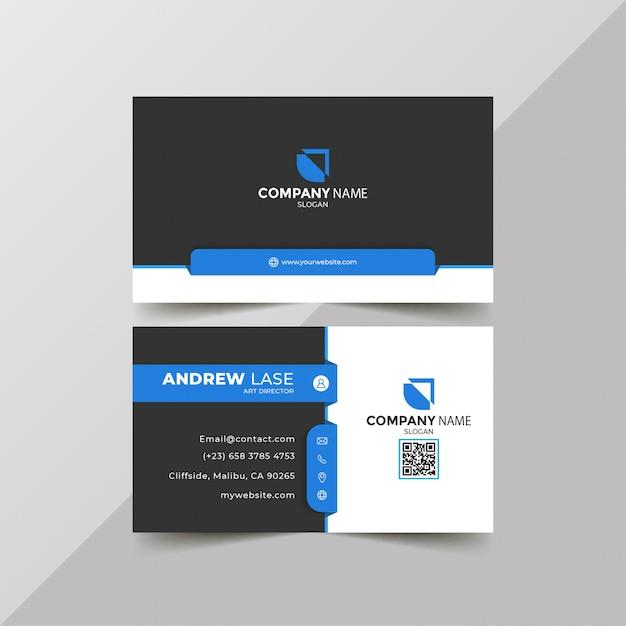 Elegante tarjeta corporativa azul Vector Premium
